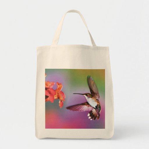 "Tote ""colibrí del ultramarinos del arco iris "" bolsa"