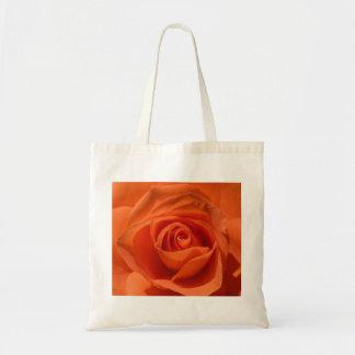 Tote color de rosa anaranjado bolsa tela barata