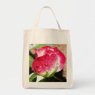 Tote color de rosa mojado del ultramarinos bolsa tela para la compra