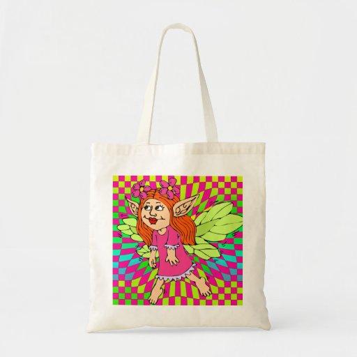 Tote colorido de hadas de la bolsa de asas de las