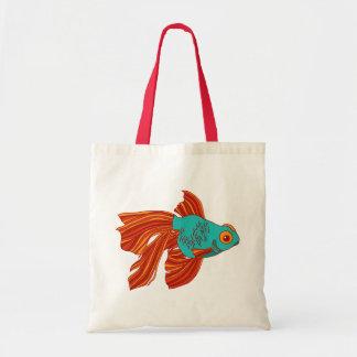 Tote colorido de la lona del Goldfish
