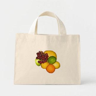 Tote con sabor a fruta bolsa tela pequeña