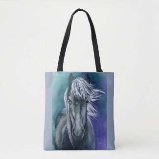 Tote Cross Over Bag Horse Watercolor Boho Chic