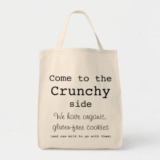 """Tote """"crujiente"""" bolsa tela para la compra"""