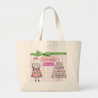 TOTE - CUPCAKE BAKERY - MELODY - PINK/GREEN
