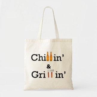 Tote de Chillin y de Grillin Bolsa Lienzo