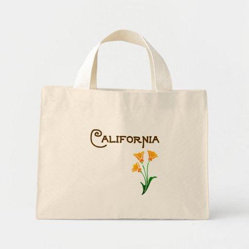 Tote de Deco de la amapola de Los Ángeles Californ Bolsa De Mano