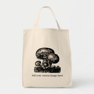 Tote de encargo de las compras - añada su propia bolsa tela para la compra