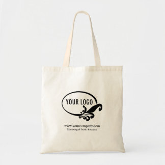 Tote de encargo del logotipo del negocio bolsa tela barata