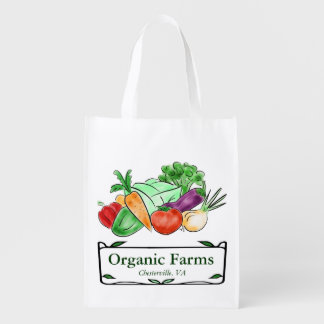 Tote de encargo del mercado de los granjeros bolsa de la compra