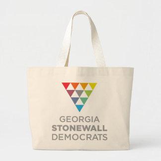 Tote de Georgia Stonewall Demócratas Bolsa Tela Grande