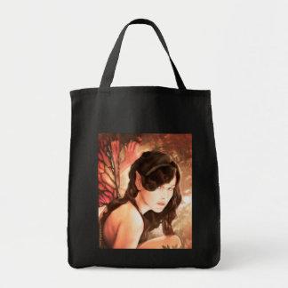 Tote de hadas encantado del ultramarinos del otoño bolsa tela para la compra