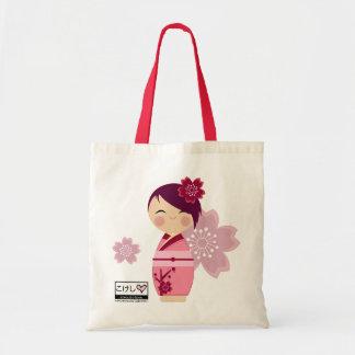 Tote de Kokeshi Sakura Bolsa Tela Barata