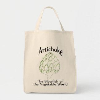 Tote de la alcachofa bolsa tela para la compra