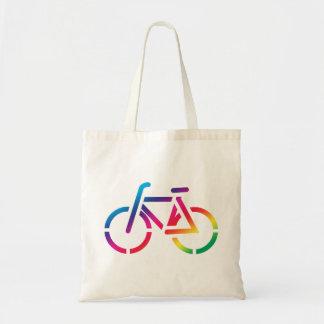 Tote de la bici del arco iris
