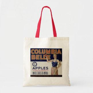 Tote de la etiqueta del cajón de Apple del vintage Bolsa Tela Barata