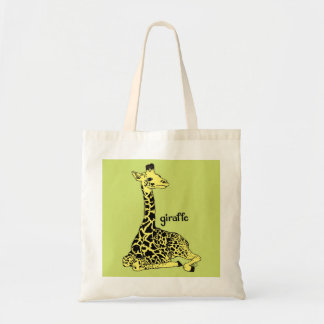 Tote de la jirafa del bebé bolsa tela barata