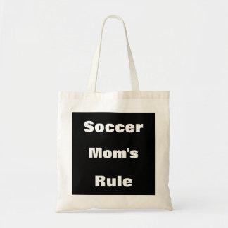 Tote de la lona de la regla de la mamá del fútbol bolsa de mano