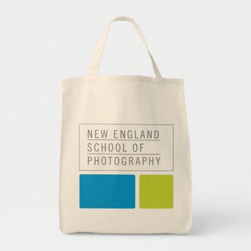 Tote de la lona - logotipo del bloque bolsa tela para la compra