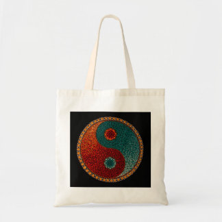 Tote de la mandala de Yin Yang Bolsa Tela Barata