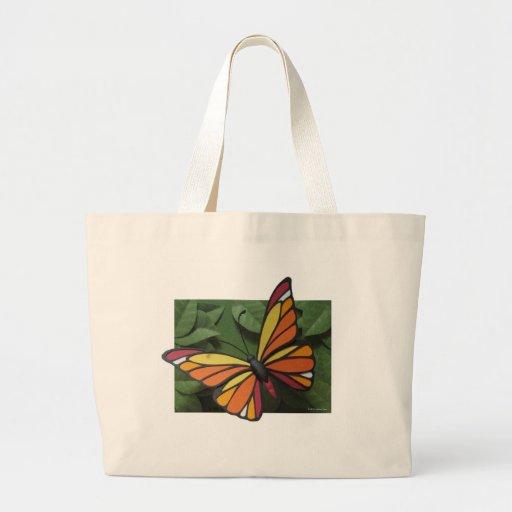 Tote de la mariposa bolsa tela grande