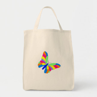 Tote de la mariposa bolsa tela para la compra