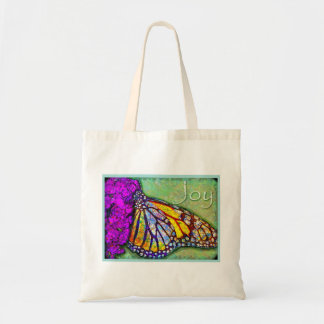 Tote de la mariposa de la alegría bolsa tela barata