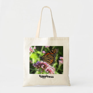 Tote de la mariposa de monarca bolsa tela barata