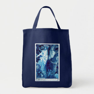 Tote de la ninfa de madera - azul/trullo bolsas lienzo
