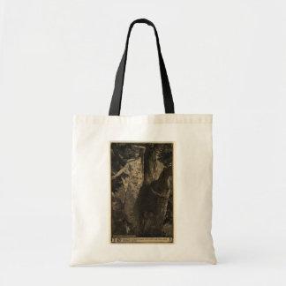 Tote de la ninfa de madera - sepia bolsa de mano