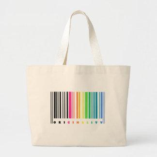 Tote de la originalidad del código de barras del bolsa tela grande