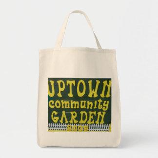 Tote de la parte alta del jardín de la comunidad bolsa tela para la compra