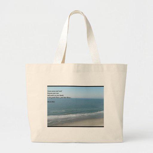 tote de la playa bolsas lienzo