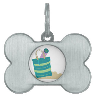 Tote de la playa placas de nombre de mascota