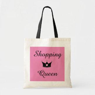 Tote de la reina de las compras bolsa tela barata