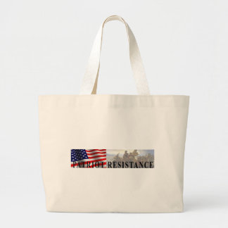 Tote de la resistencia del patriota bolsa tela grande