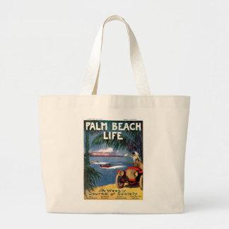 Tote de la vida #19 del Palm Beach Bolsa Tela Grande
