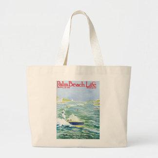 Tote de la vida #2 del Palm Beach Bolsa Tela Grande