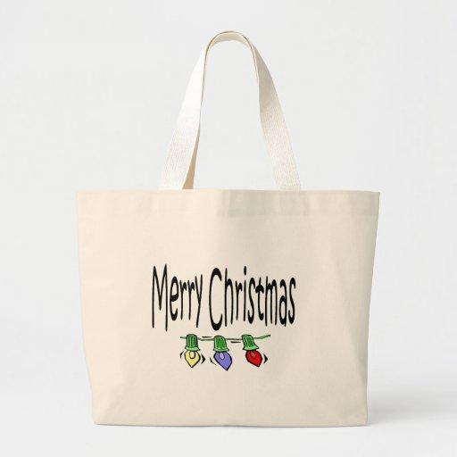 tote de las Felices Navidad Bolsa Tela Grande