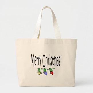 tote de las Felices Navidad Bolsa De Mano