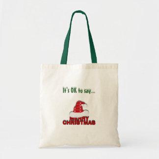"""Tote """"de las Felices Navidad"""" Bolsa"""