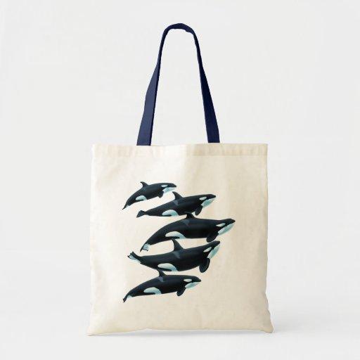 Tote de las orcas de Antibes Bolsa Lienzo