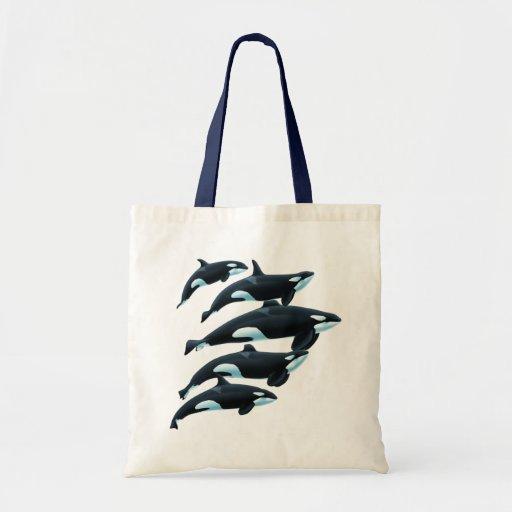 Tote de las orcas de San Antonio Bolsa Tela Barata