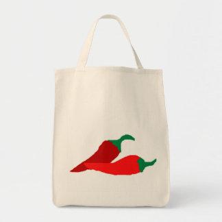 Tote de las pimientas de chile bolsas