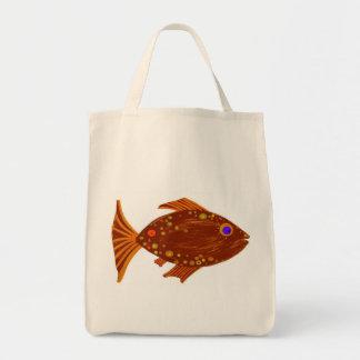 Tote de los pescados de Brown Bolsas