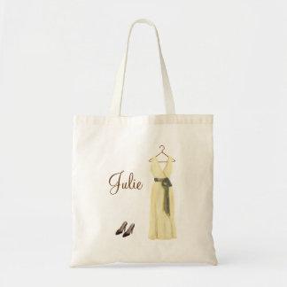 Tote de marfil personalizado de la dama de honor bolsas de mano