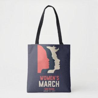 Tote de marzo de las mujeres de San Diego Bolsa De Tela