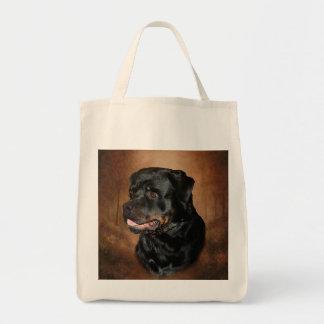 Tote de Rottweiler Bolsa Tela Para La Compra