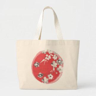 Tote de seda japonés del jumbo del diseño bolsa tela grande