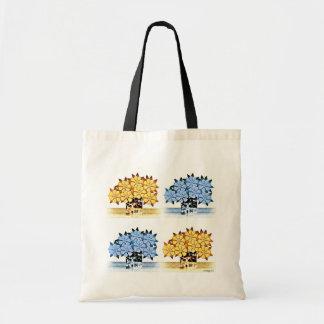 Tote de siete diseños florales bolsas
